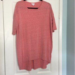 LulaRoe Irma T Tunic Shirt Med  Heathered Pink EUC